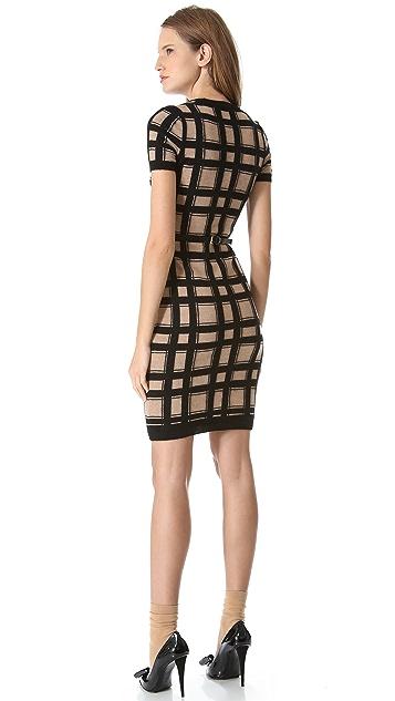 DSQUARED2 Short Sleeve Check Dress