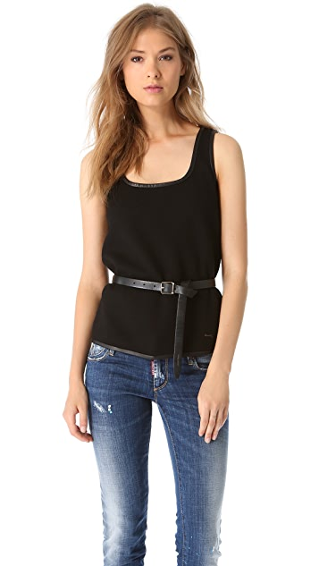 DSQUARED2 Belted Fleece Tank