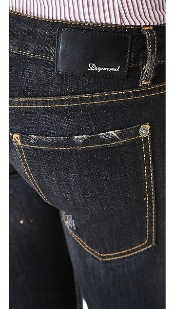 DSQUARED2 Cuffed Pat Jeans