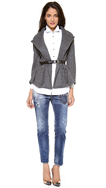 DSQUARED2 Neck Button Jacket