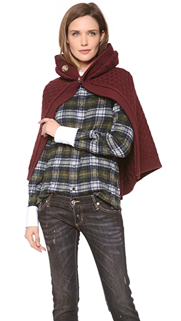 DSQUARED2 Wool Cape