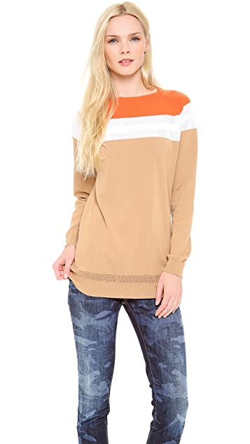 DSQUARED2 Colorblock Long Sleeve Top