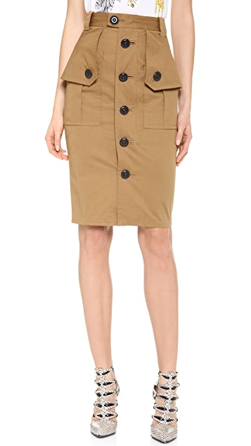 DSQUARED2 Utility Pencil Skirt