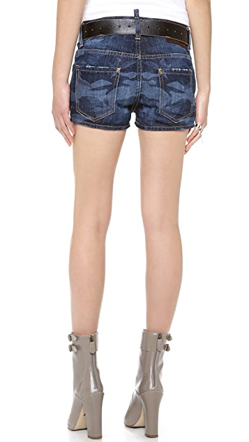 DSQUARED2 Camo Denim Shorts