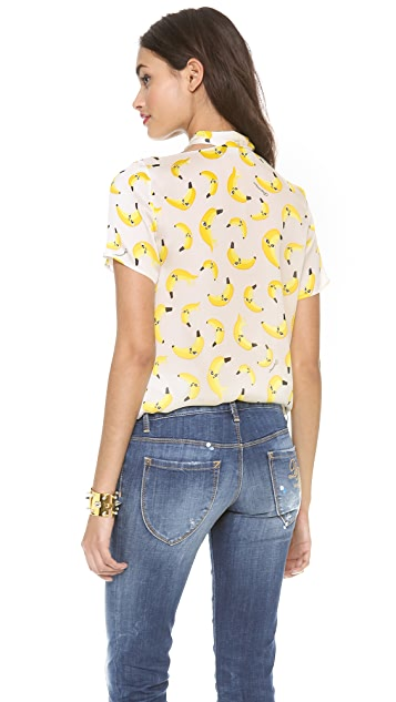 DSQUARED2 Printed Silk Blouse