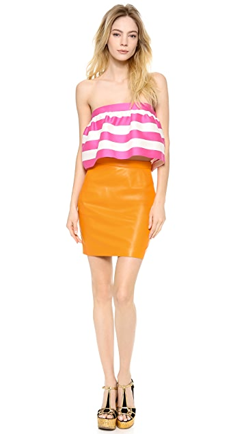 DSQUARED2 Betty Leather Skirt
