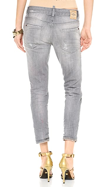 DSQUARED2 Cropped Skinny Glam Jeans