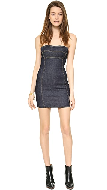 DSQUARED2 Strapless Denim Dress