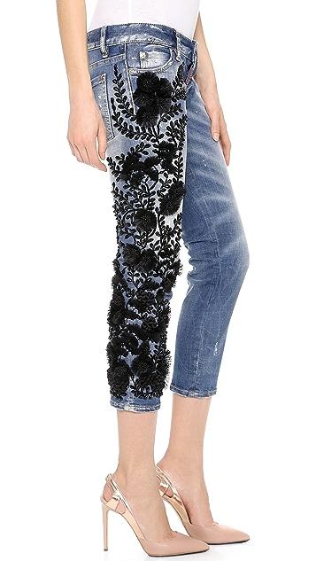 DSQUARED2 Embellished Pat Skinny Jeans