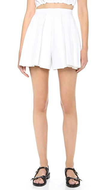 DSQUARED2 Cotton Pleated Shorts