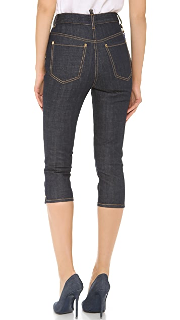 DSQUARED2 High Waist Capri Jeans