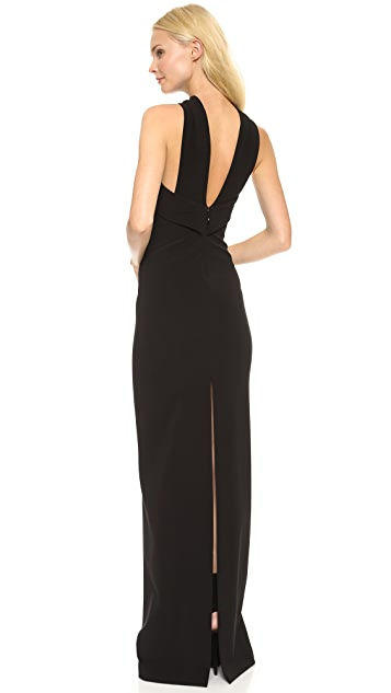 DSQUARED2 Halter Rib Jersey Gown