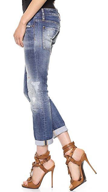 DSQUARED2 Pat Low Rise Jeans