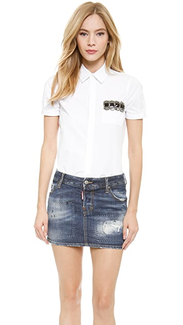 DSQUARED2 Short Sleeve Blouse