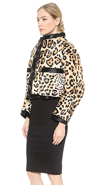 DSQUARED2 Leopard Haircalf Jacket