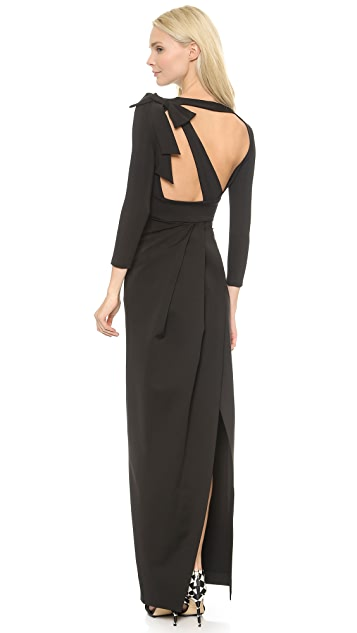 DSQUARED2 Cutout Back Jersey Gown
