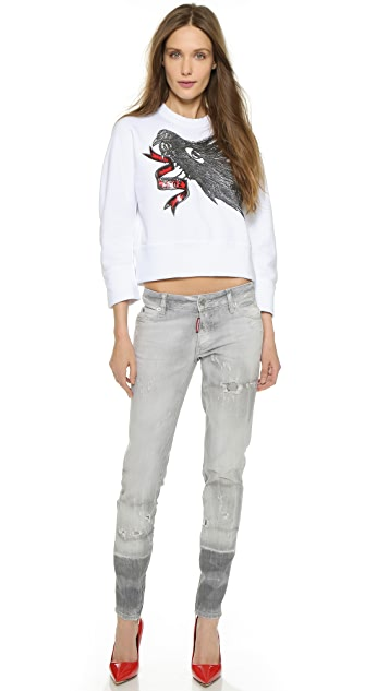 DSQUARED2 Bird Puff Print Sweatshirt