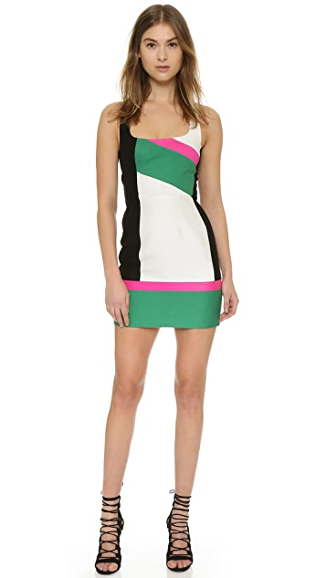 DSQUARED2 Colorblock Sheath Dress