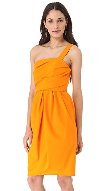 David Szeto Samantha One Shoulder Dress