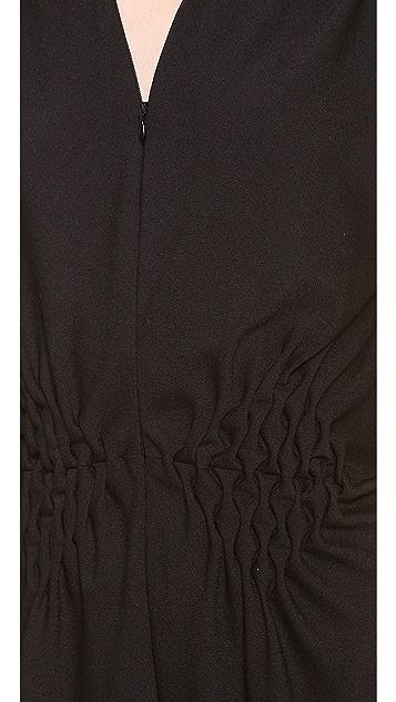 David Szeto Crepe Wool Jumpsuit