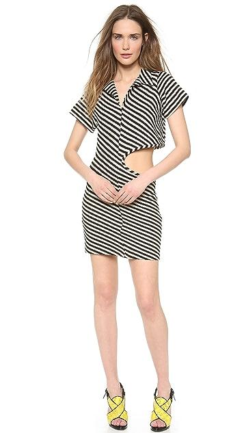 David Szeto Knit Polo Shirt Dress