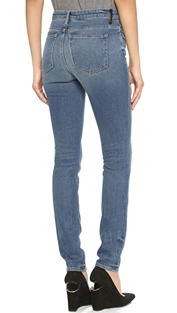 Denim x  Alexander Wang 001 Slim Fit High Rise Jeans