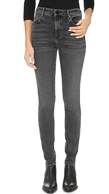 74262bbc091b Denim x Alexander Wang 001 Slim Fit High Rise Jeans