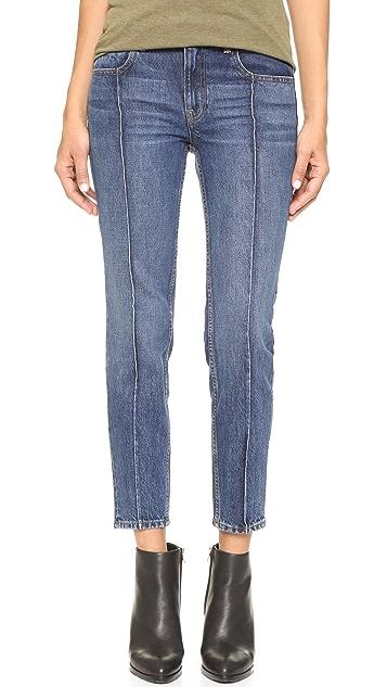 Denim x  Alexander Wang Drift Relaxed Fit Pintuck Jeans