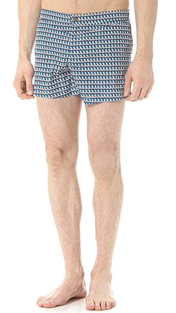 Dan Ward Irregular Mosaic Swim Trunks
