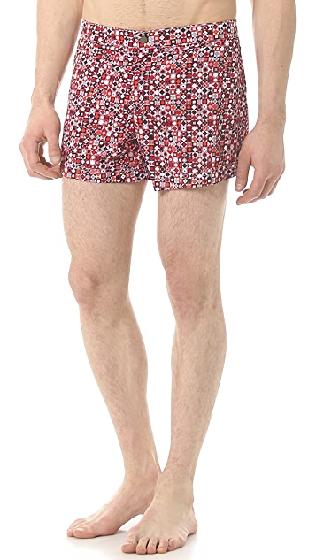 Dan Ward Abstract Print Swim Trunks