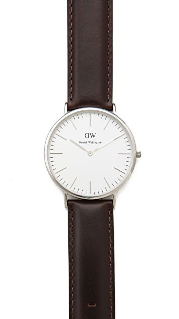 Daniel Wellington Bristol 40mm Watch with Brown Leather Band