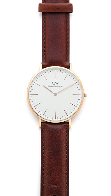 Daniel Wellington St. Mawes 40mm Watch with Brown Leather Band