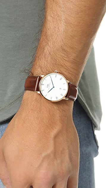 Daniel Wellington Dapper St. Mawes 38mm Leather Band Watch