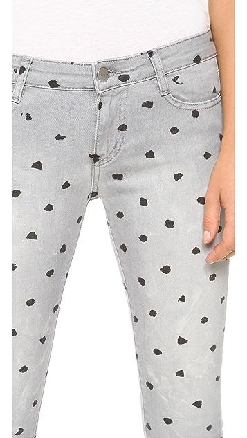 EACH x OTHER Naco Polka Dot Skinny Jeans