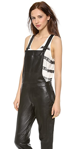 EACH x OTHER Leather Dungaree Overalls