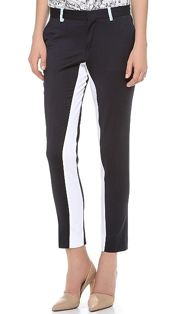 EACH x OTHER Tri Color Tuxedo Pants