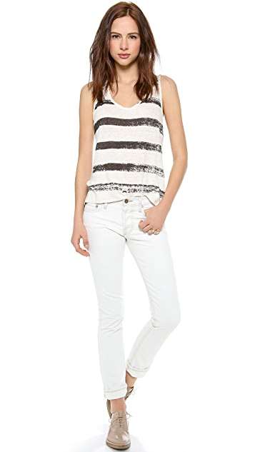 EACH x OTHER Painted Stripes Tank Top