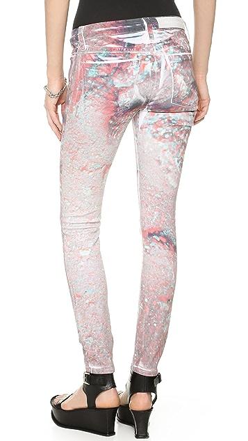 EACH x OTHER Kolkoz 3D Moon Print Jeans