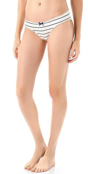 Eberjey Coastal Stripes Bikini Briefs