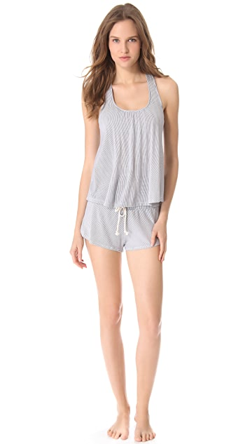 Eberjey Cottage Stripes Racer Back Tank
