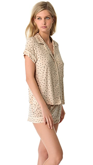 Eberjey Free Bird Short PJ Set