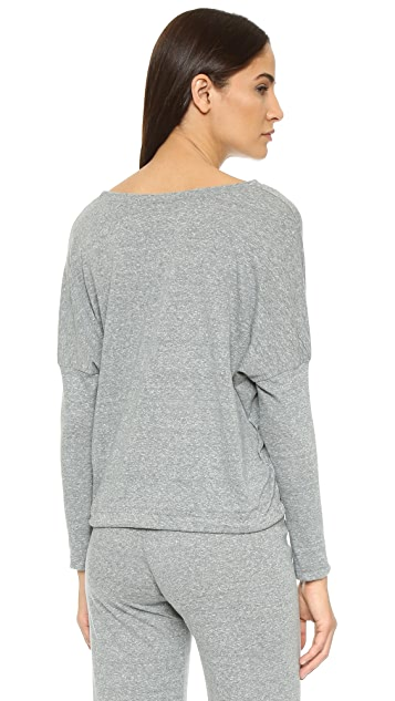 Eberjey Heather Slouchy Pajama Top