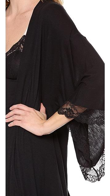 Eberjey Fiona Kimono Robe with Lace