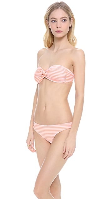 Eberjey Sea Stripe Reversible Amalia Bikini Top