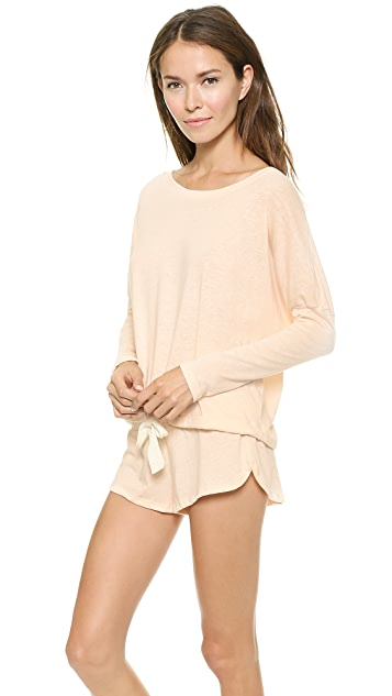 Eberjey Heather Slouchy Top