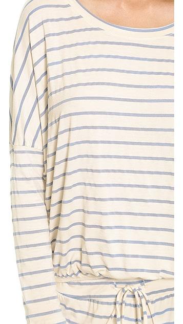 Eberjey Lounge Stripes Slouchy Top