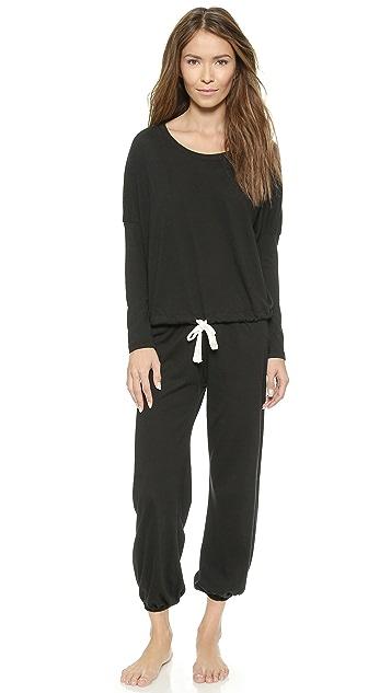 Eberjey Heather Cropped Pajama Pants