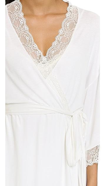 Eberjey Magnolia Short Robe