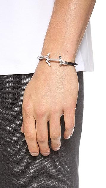 Eddie Borgo Ship Weight Leather Bracelet