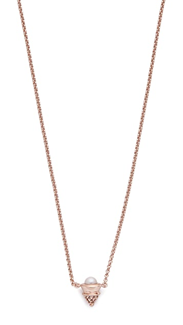 Eddie Borgo Pave Freshwater Cultured Pearl Cone Necklace